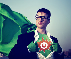 Power Strong Superhero Success Professional Empowerment Stock