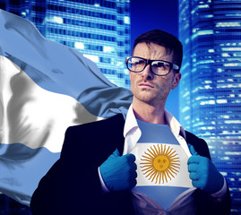 Businessman Superhero Country Argentina Flag Culture Power