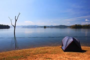 Waterside camping