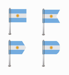 set of four flags Argentina