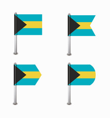 set of four flags Bahamas