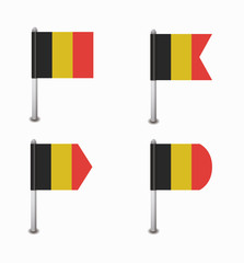 set of four flags Belgium