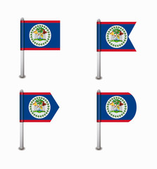 set of four flags Belize