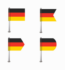 set of four flags Germany