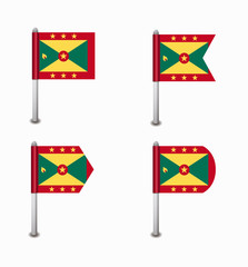 set of four flags Grenada