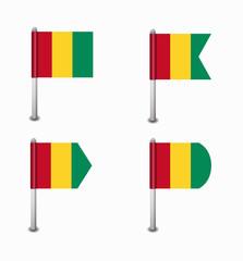 set of four flags Guinea