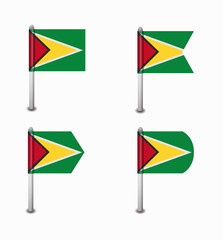 set of four flags Guyana