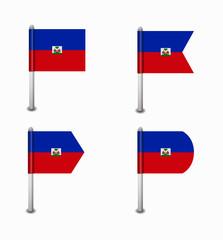 set of four flags Haiti
