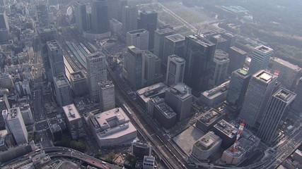 Aerial Metropolitan Tokyo Rail Station Expressway Japan East Asia
