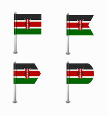 set of four flags Kenya