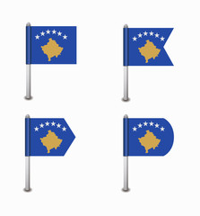 set of four flags Kosovo