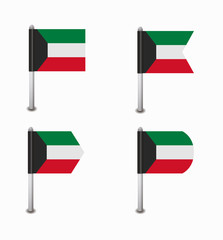 set of four flags Kuwait