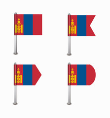set of four flags Mongolia