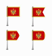 set of four flags Montenegro