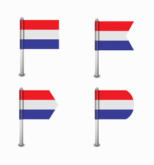set of four flags Netherlands