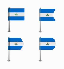 set of four flags Nicaragua