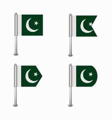 set of four flags Pakistan