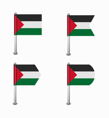 set of four flags Palestine