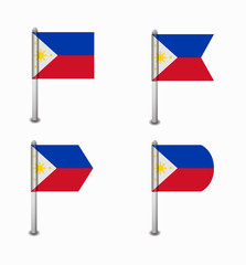 set of four flags Philippines