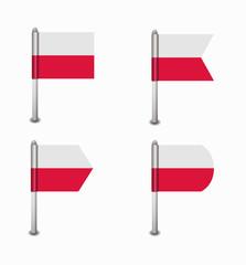 set of four flags Poland