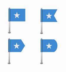 set of four flags Somalia