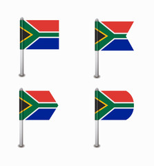 set of four flags South Africa