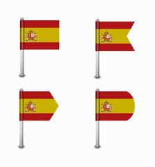 set of four flags Spain