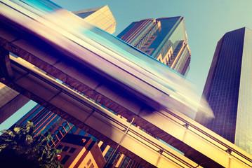 Skytrain Speed City Transportation Town Concept