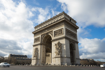 Paris, Champs-Elysees, Arc de triomphe