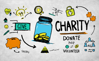 Assistance Volunteer Support Give Help Donate Charity Concept