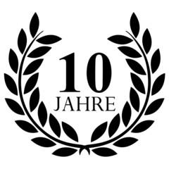 Lorbeerkranz. 10 jahre jubiläum