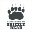 footprint grizzly bear - vector illustration - 76962645