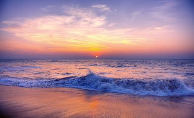 Sunset Twilight Dusk Beach Wave San Concept