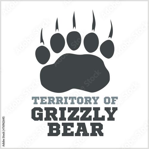 footprint grizzly bear - vector illustration - 76962645