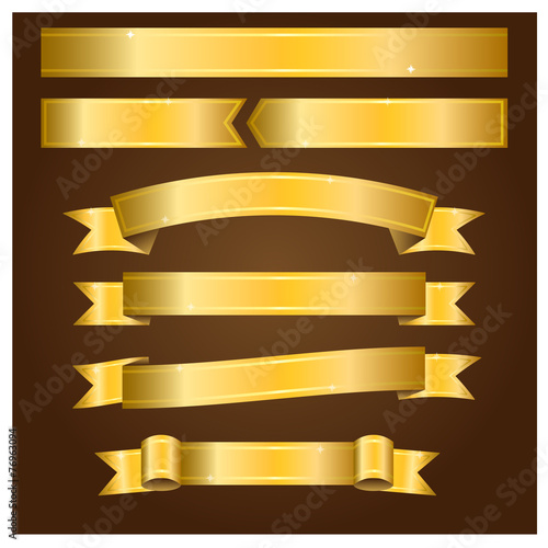 Gold banners - Illustration