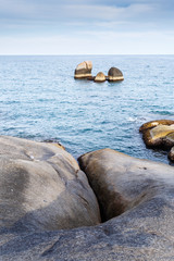 Sea landscape to Samui rocks the grandfather and the grandmother