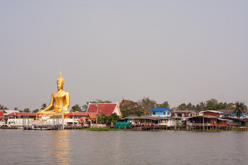 Buddha statue on waterfront