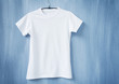 Leinwandbild Motiv White t-shirt on hanger