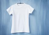 White t-shirt on hanger - 76963662