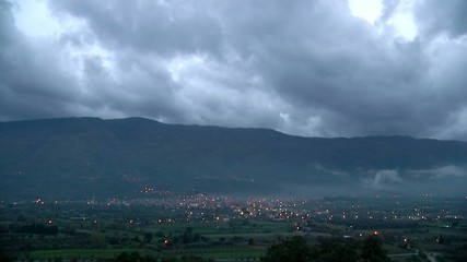 Cloudy Timelapse in the City