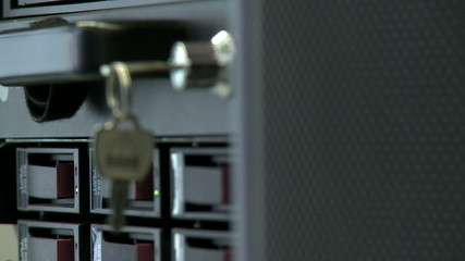 Key protects server from outside interference