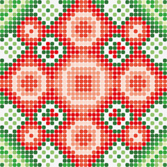 pattern green red