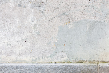 Worn old painted concrete wall