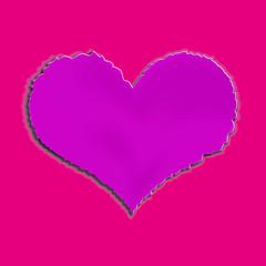 Сердце сделанное из бумаги с рваными краями