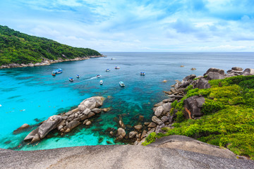 Similan island viewpoint in Thailand