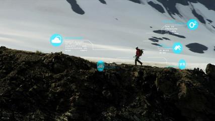 Ridge Walker Rocky Terrain American Male GPS Data Technology App Statistics CG