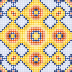pattern yellow squares