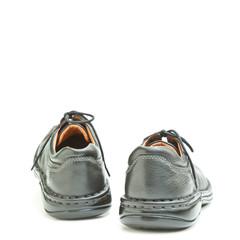 Black men's shoe isolated on white