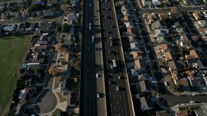 Aerial Highway California, San Francisco, USA