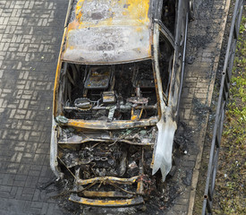 Burned-down car